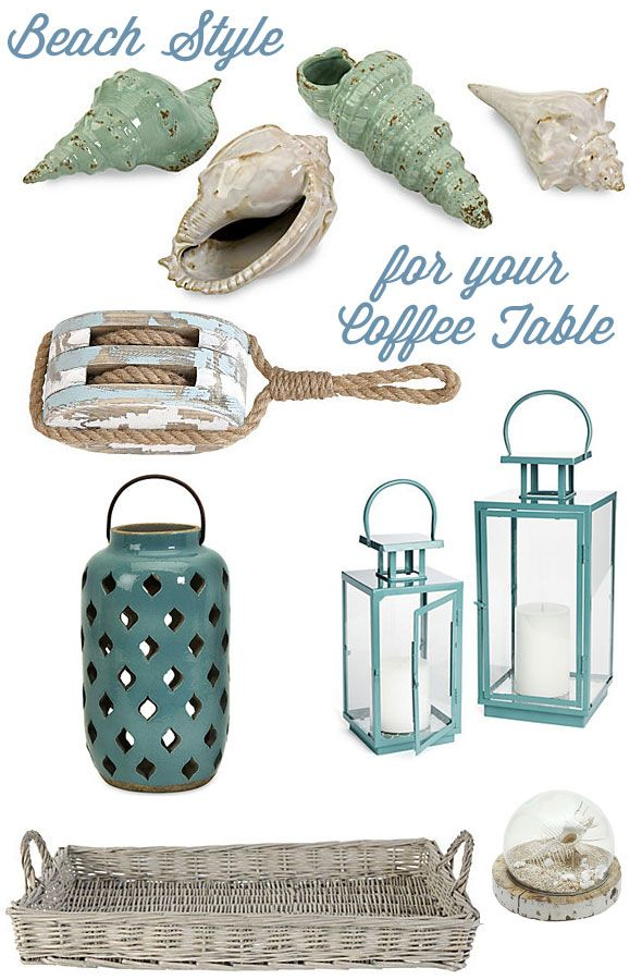 Coastal Decorating Ideas For Your Coffee Table Products From One
