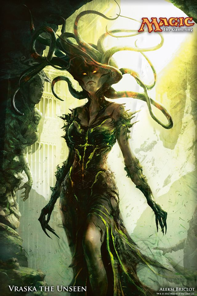 Wallpaper Of The Week Vraska The Unseen Magic The Gathering Fantasy Art Fantasy Creatures Dryads
