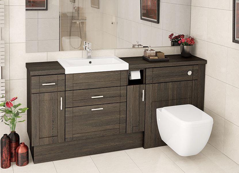 Mali Oak Fitted Bathroom Furniture Basin Units With Drawers Elongate A Run Of Furniture Whilst Fitted Bathroom Furniture Fitted Bathroom Bathroom Furniture