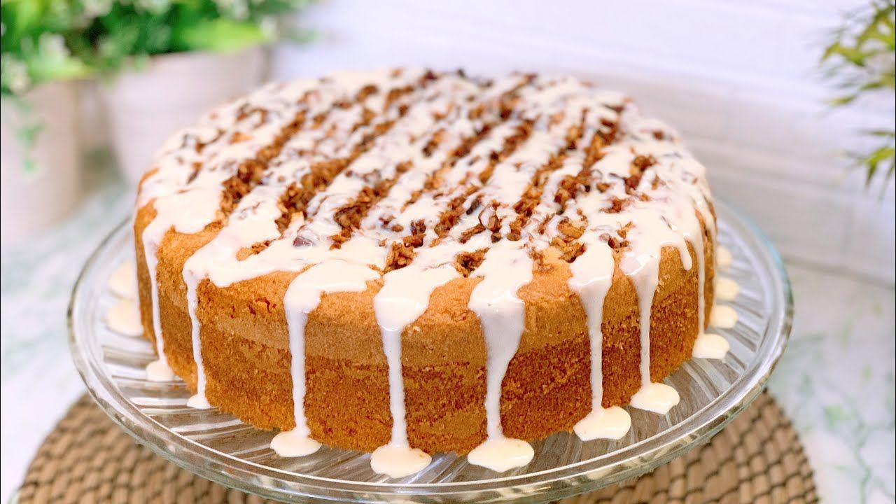 عندكم تلات تفاحات وملعقة قرفة نعالوا نعمل أطيب وأسهل كيكة وطعم أكتر م Desserts Food Vanilla Cake