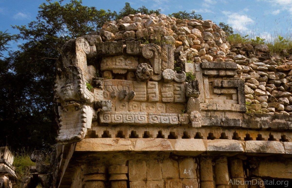 Detalle de la estructura maya arte precolombino for Arquitectura en maya