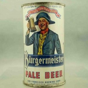 Burgermeister Pale 46 32 Arts Beer Cans Resource For Beer Can Buying Selling Repair Beer History Beer Vintage Beer