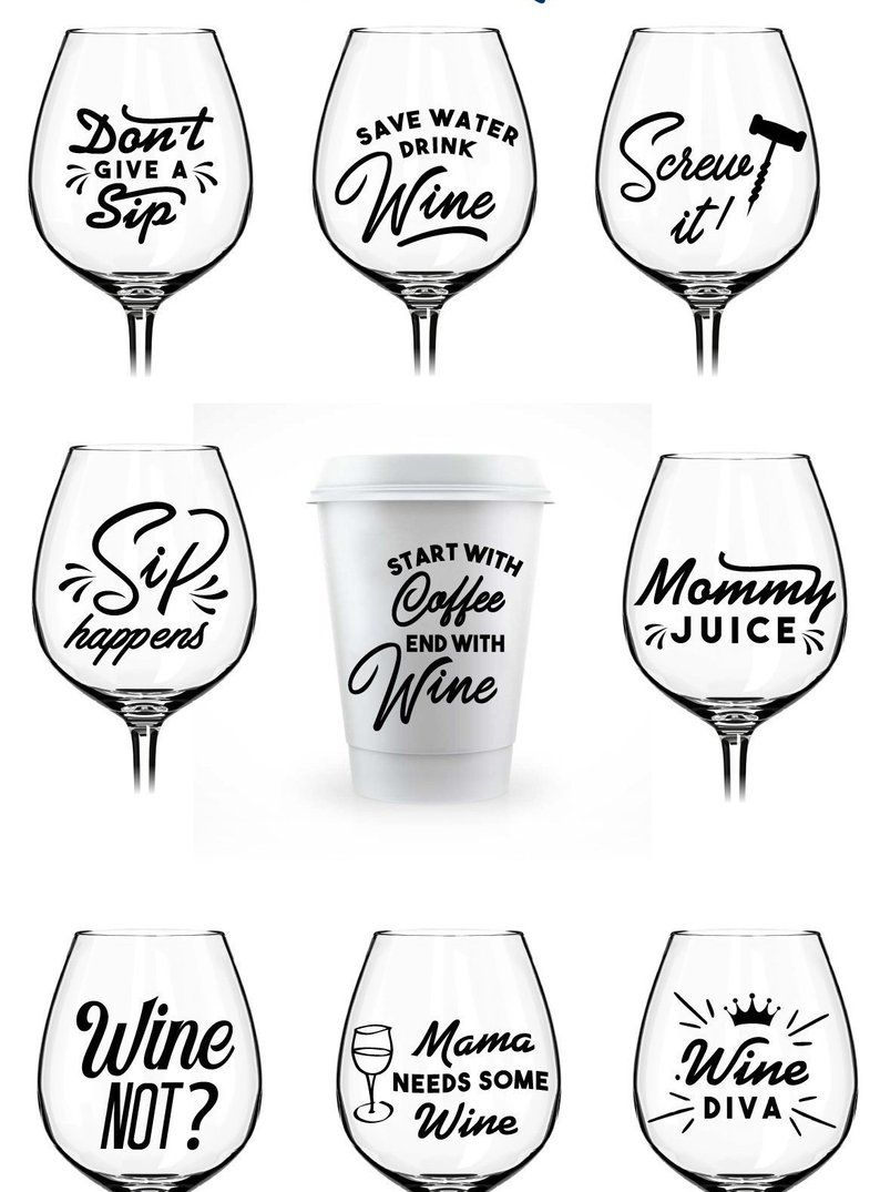 Wine SVG A Wine Bundle Svg for Wine Lovers Wine Glass Svg