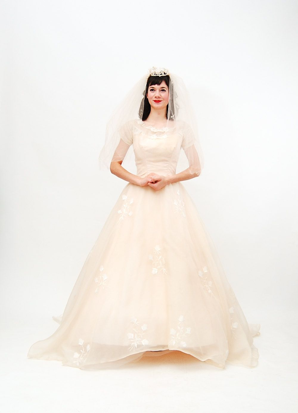 1960 wedding dresses  Beautiful in blush Vintage s Wedding Dress s by