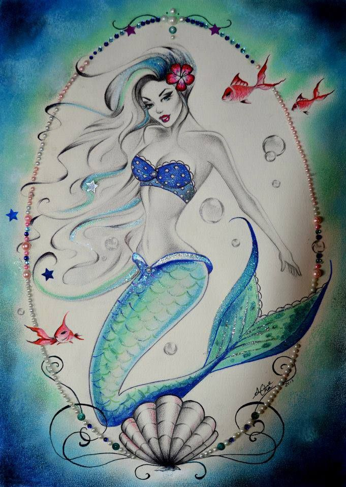 Anne Cha Art Mermaid Mermaid Pinterest Tatouage Tatouage