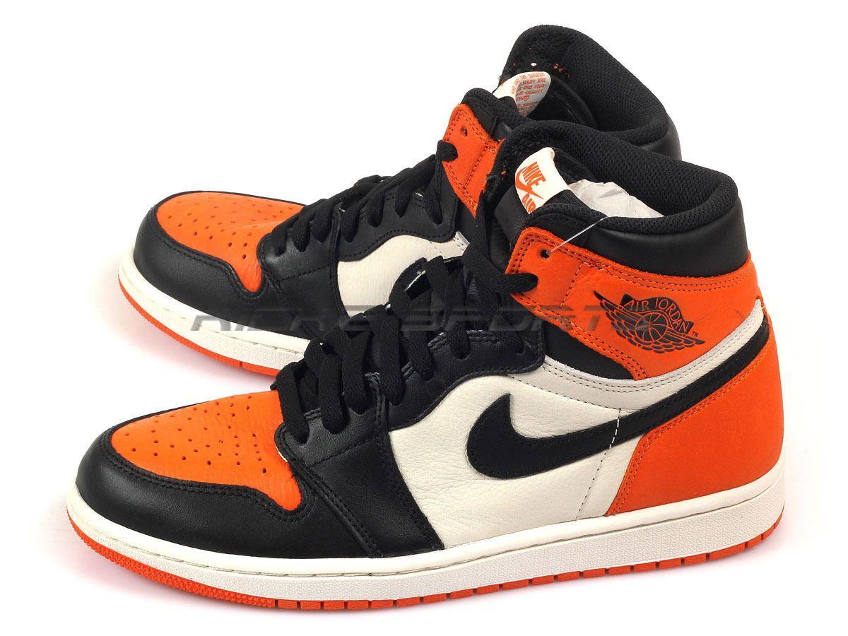Nike Air Jordan 1 I Retro High OG Black/Starfish Shattered Backboard  555088-005