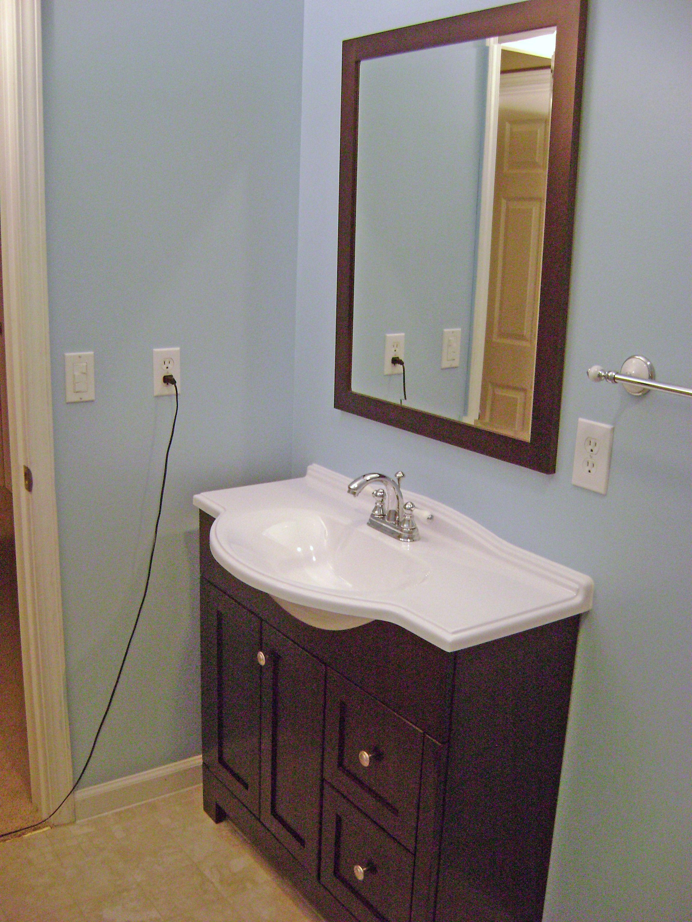 How To Finish A Basement Bathroom Vanity Plumbing Small