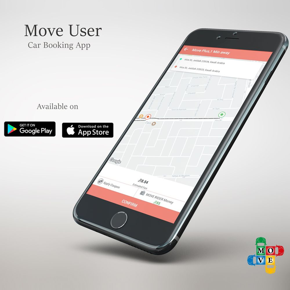 Move User A Car Booking App Move is Cap Booking App
