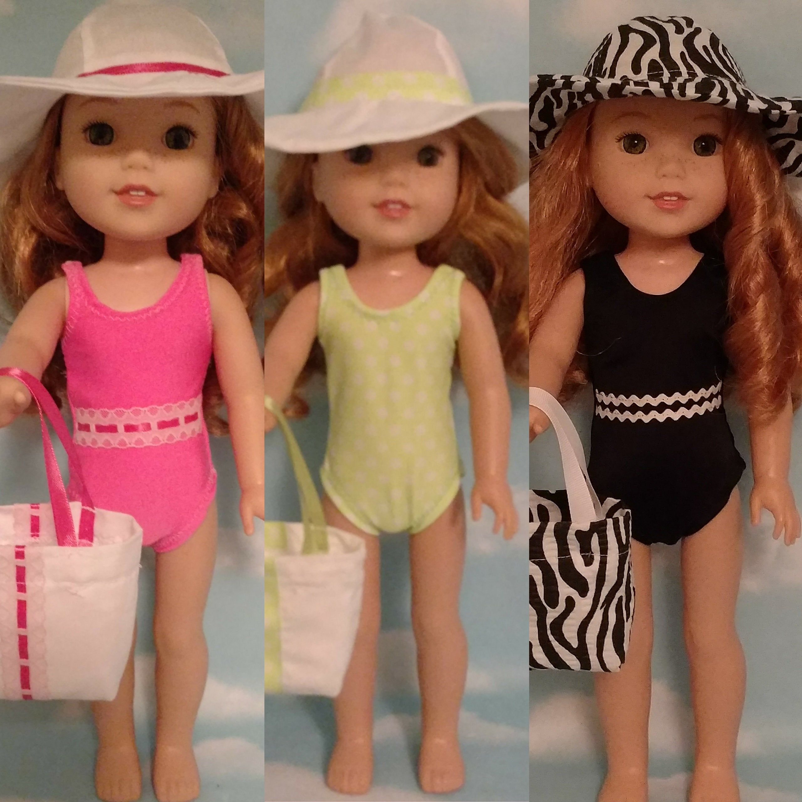 14.5inch Fashion Doll Summer Outfits Swimsuit Swimwear for Wellie Wishers