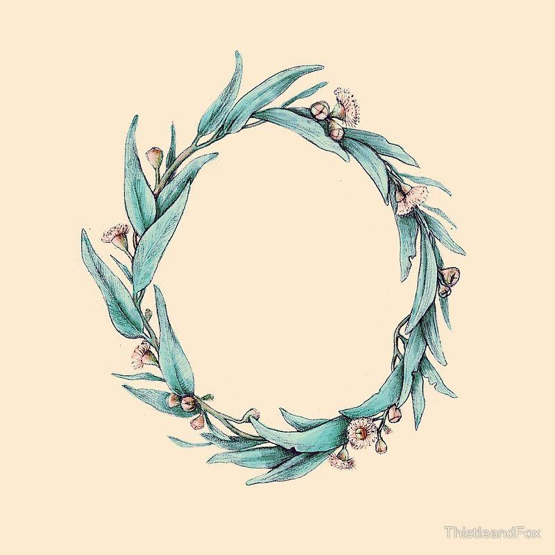 Photo of eucalyptus wreath illustration – inspiration