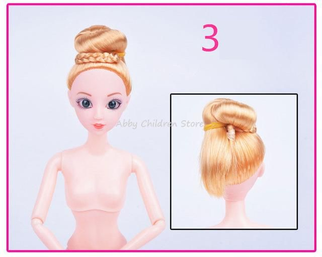 12 Moveable Joints Doll Body For Dolls Plastic Solid Cake Baking Princess Doll Naked Body Female Figure Toys For girls