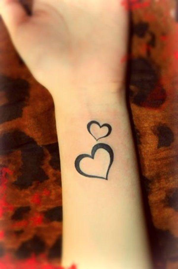250 Love Tattoos For Heart Tattoo Wrist Small Heart Tattoos Two Hearts Tattoo