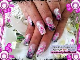 Bildergebnis Fur Nageldesign Galerie Pink Schwarz Airbrush Nails