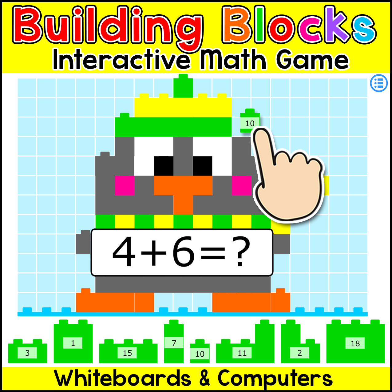 Building Blocks Math Game This fun and engaging