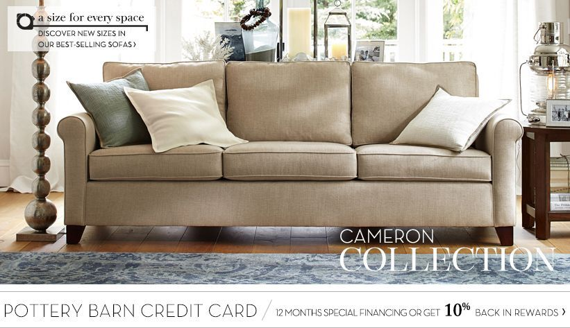 Cameron Sofa Collection Pottery Barn Great Room Pinterest Pottery Barn And Upholstery
