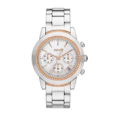 7c24d825faf14 DKNY Ladies' Rose Stone Set Bracelet Watch- H. Samuel the Jeweller ...