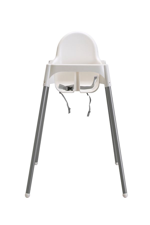 NEW IKEA High Chair w// Safety Belt Antilop Modern Baby White