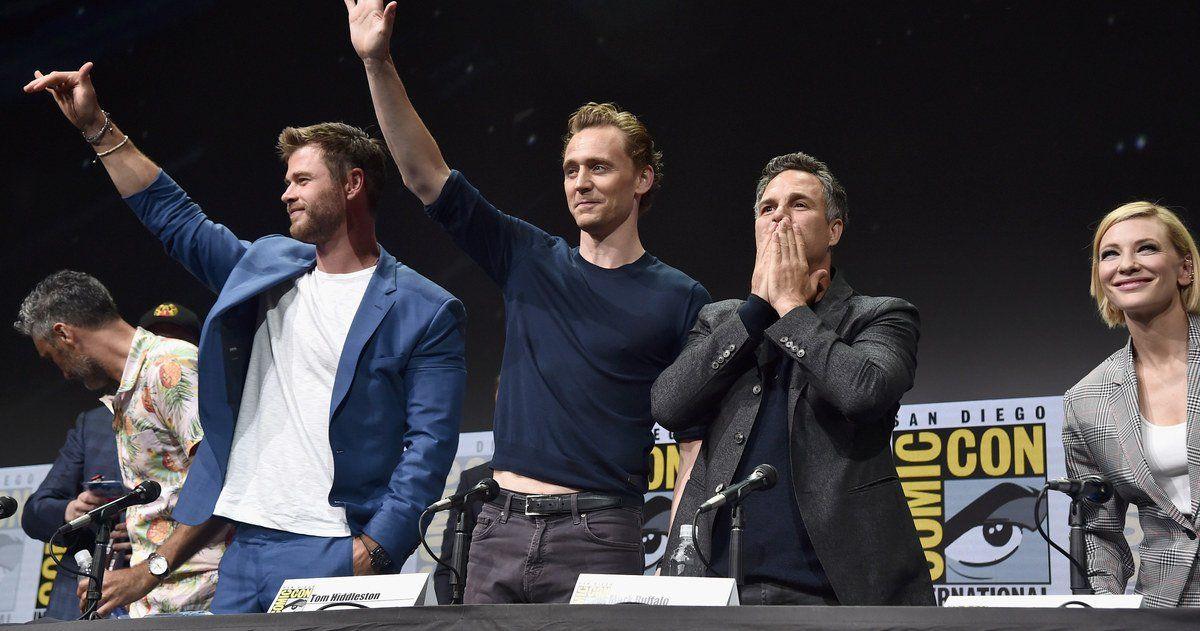 Thor 3 Cast Talks Ragnarok Action In Comic Con Panel Interviews Marvel Chris Hemsworth Tom Hiddleston
