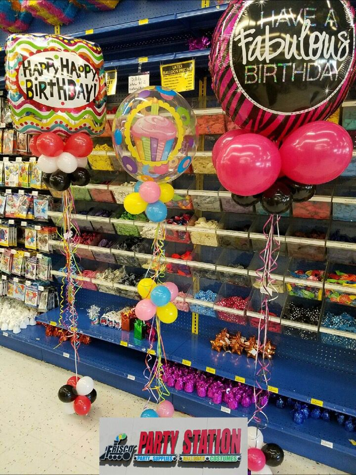 Grab & Go custom balloon decoration available at Frisco Party Station #balloons