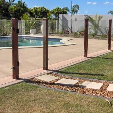 Cool Way To Make A Modern Glass Pool Fence Less Modern You Could