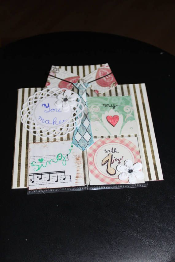 You make my heart sing handmade 3D card by lilyofthevall77 on Etsy