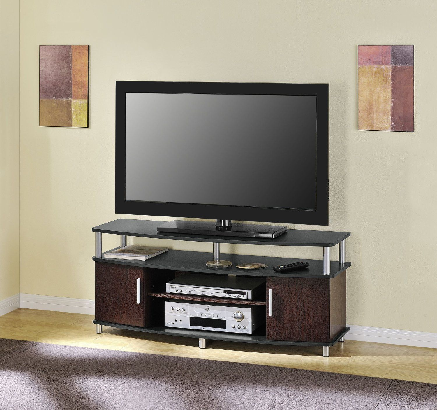 Superbe Altra Furniture Carson 48 Inch TV Stand, Black And Cherry #tv #stand # Furniture #lounge #sitting #room #television #wooden