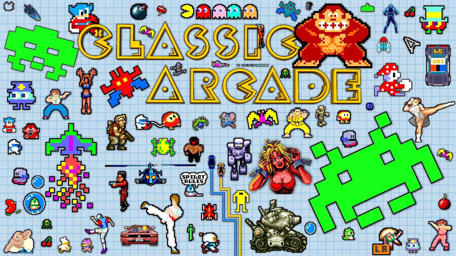 Arcade Wallpaper Decided To 1080 Fie My Arcade Classic Wallpaper Hope You Like It Classic Video Games Retro Games Wallpaper Retro Arcade Games