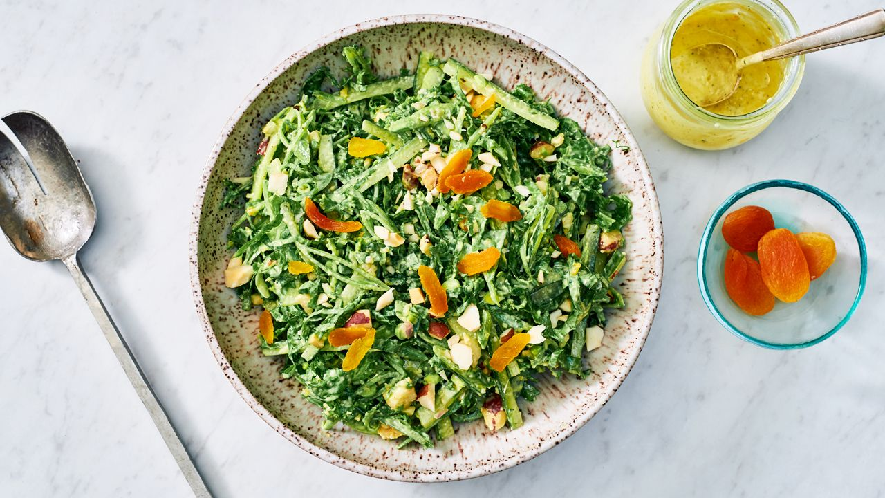 Photo of Snap Pea and Spicy Green Slaw with Apricot Dressing – barre3