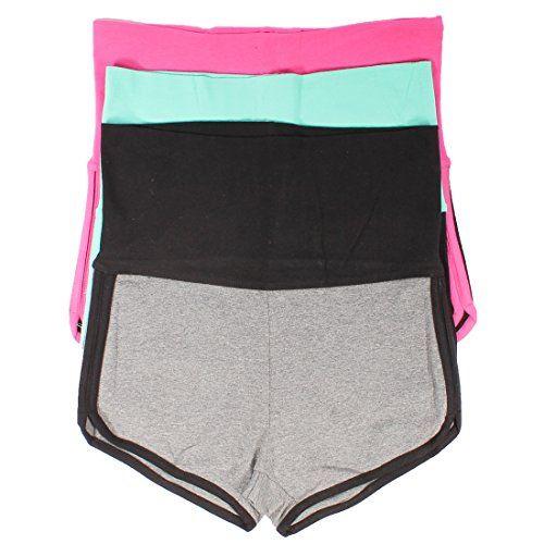 979dad207eae3 Mopas 3 Pack Yoga Two Tone Dolphin Shorts