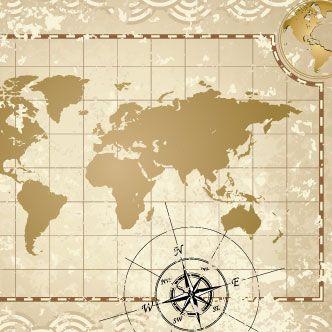 Vector Gratis De Mapa Antiguo Y Rosa De Los Vientos Rosa De Los Vientos Mapa Antiguo Viento Dibujo