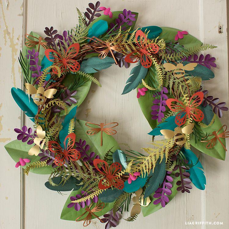 Make a Boho Botanical Paper Wreath Paper flower wreaths