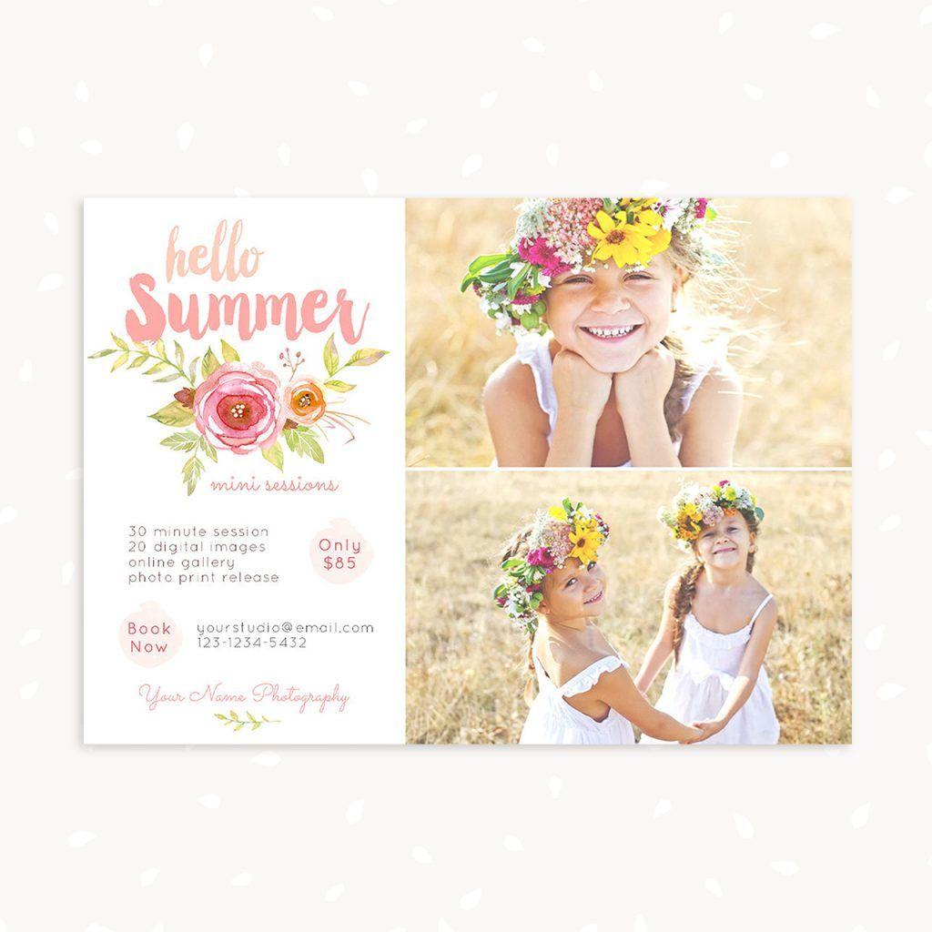 Summer Watercolor Mini Sessions Template