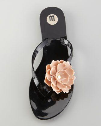 f063f5ce6 Melissa Shoes Harmonic Floral Thong Sandal