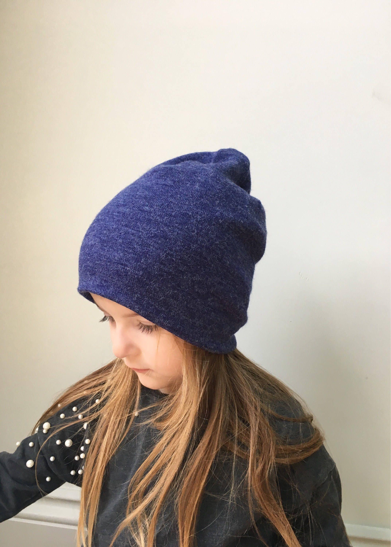Slouchy Beanie   baby beanie hat   air force blue winter hat ... 70285277e07