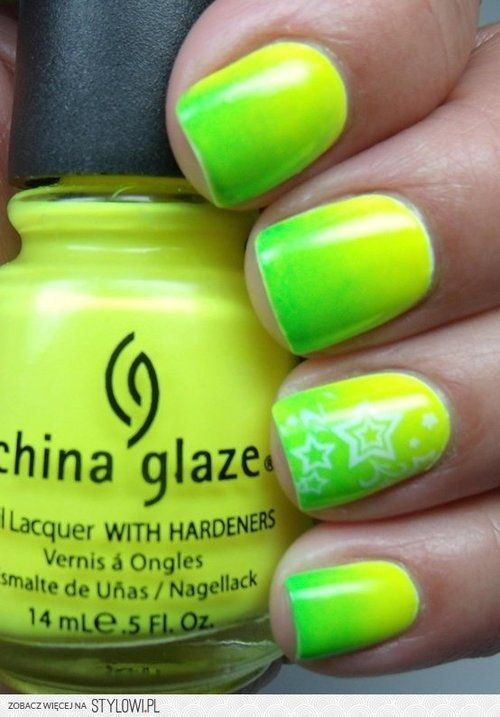 Lime green ombre nails | Claws | Pinterest | Ombre
