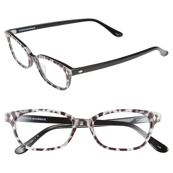 Corinne McCormack 'Cyd' 50mm Reading Glasses ($25) ❤ liked on Polyvore featuring accessories, eyewear, eyeglasses, glasses, lens glasses, corinne mccormack glasses, reading glasses, reading eye glasses and acetate glasses