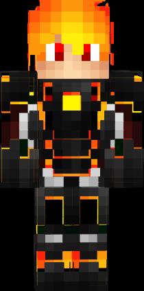 D Fire Boy Nova Skin Minecraft Skins Pinterest D - Skin para minecraft pe nova skins