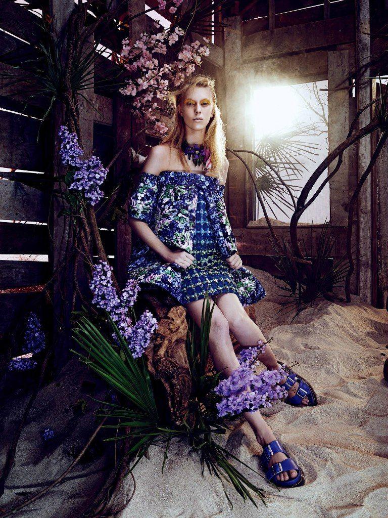 Juliana Schurig by Sharif Hamza in Vogue Japan March 2014