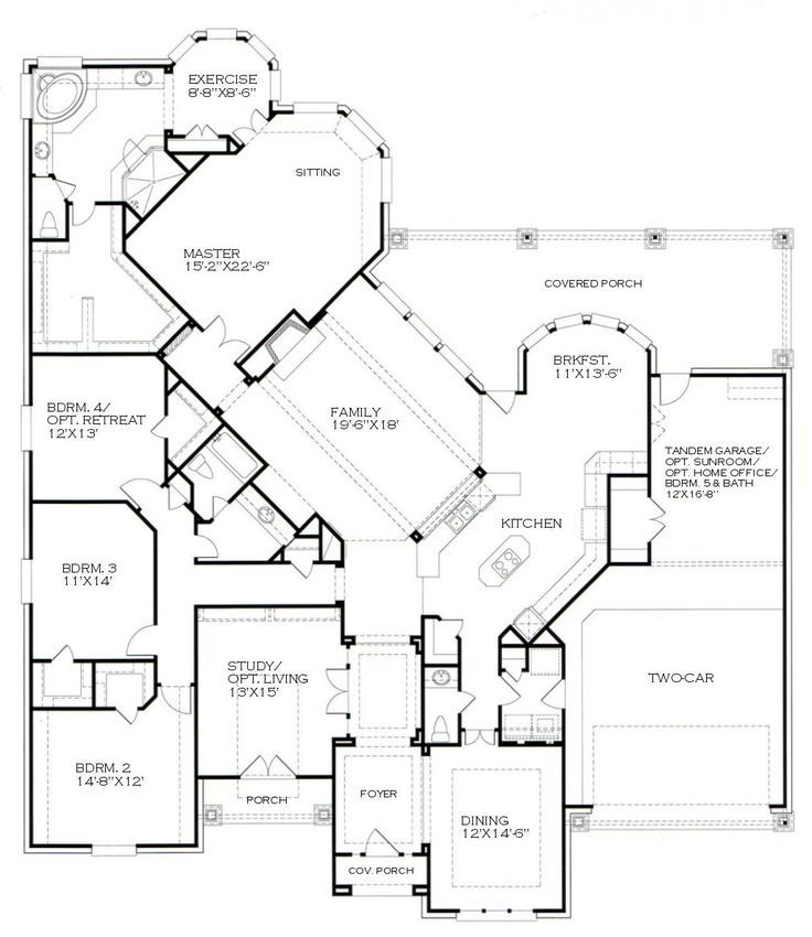 One Story Home Floor Plans Photos