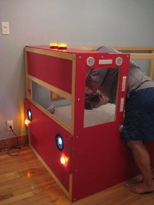 Truck Bed Bedroom: Ikea Bed, Ikea Toddler