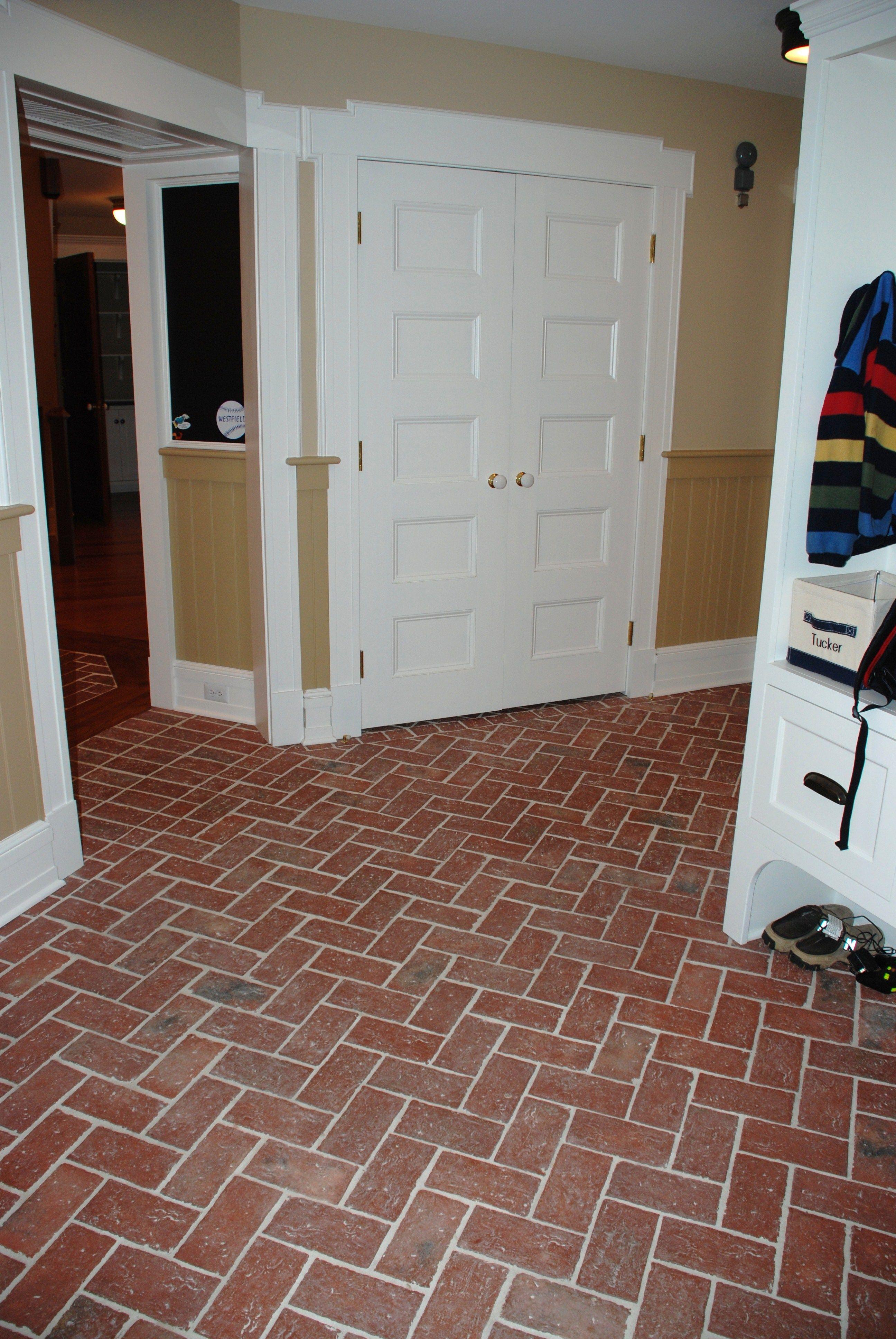 A spacious entry hall floor traditional antique in marietta color entryways and hallways inglenook brick tiles thin brick flooring brick pavers ceramic brick tiles brick floors dailygadgetfo Images