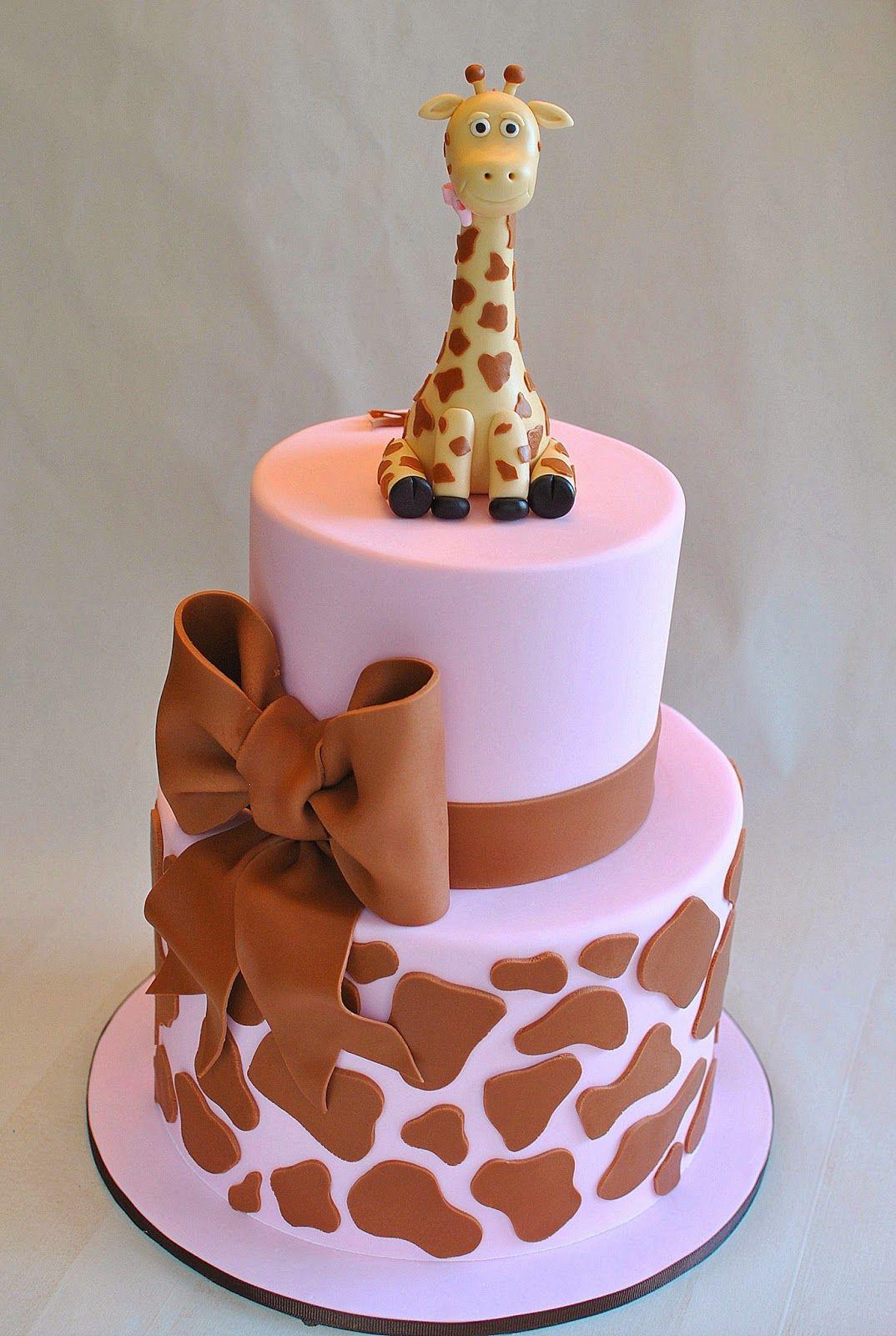 Pink Giraffe Print Cake