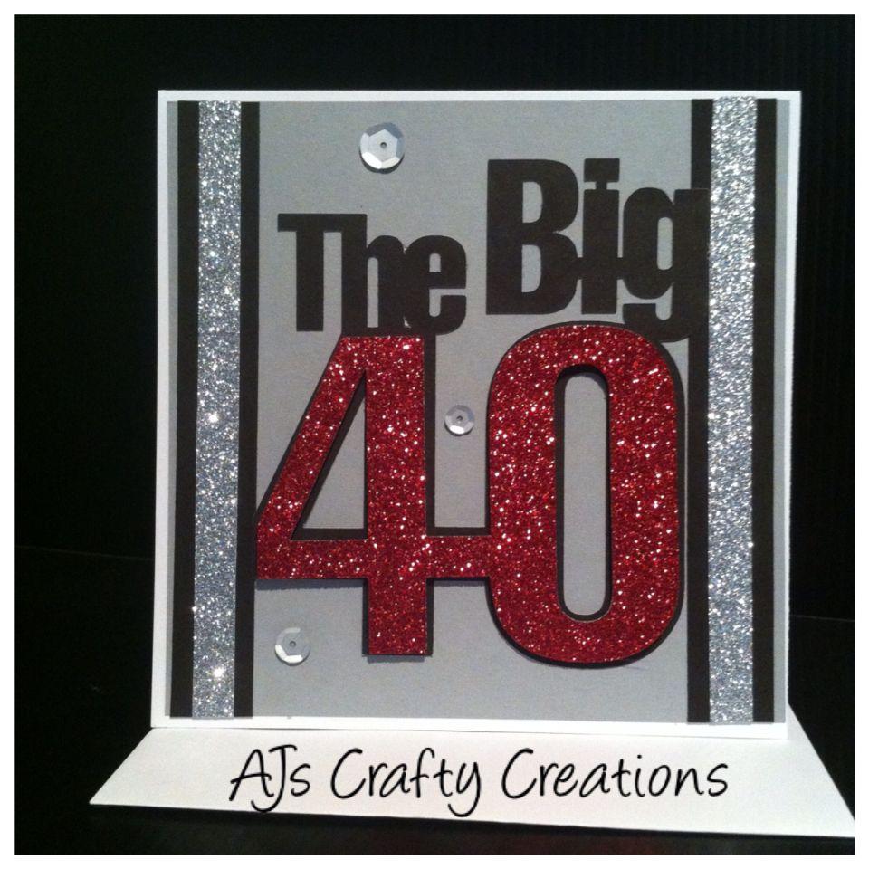 40th Birthday Card 40th Birthday Cards Birthday Cards