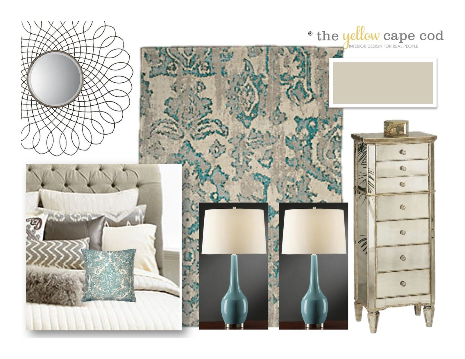 Luxurious tiffany blue and beige master bedroom my dream home