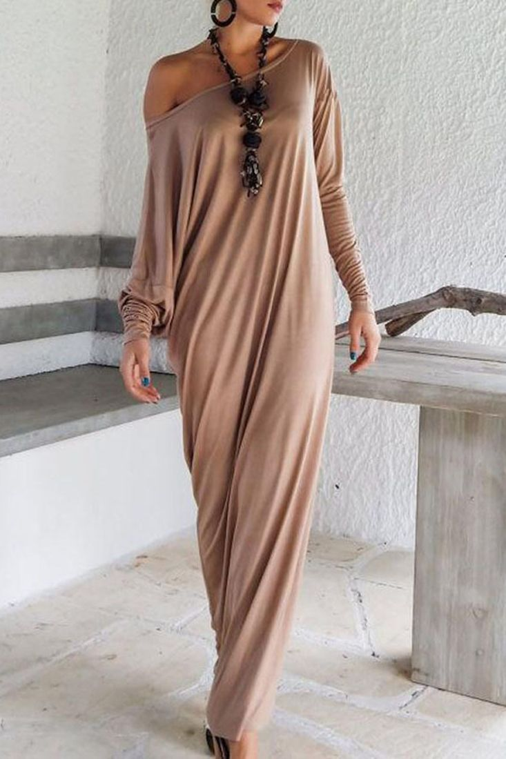Fashion solid color maxi dress maxi dresses simple colors and