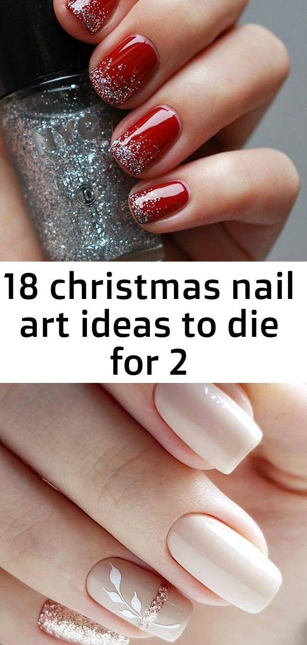 Simple Classy Red And Silver Holiday Nails 30 Cute Nail Design Ideas For Stylish Brides Nail Design Wedding N Bride Nails Christmas Nail Art Christmas Nails