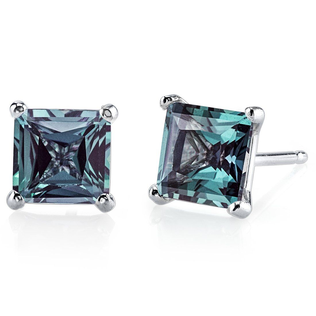 fetheray natural alexandrite synthetic vintage earrings products resplendent russian stud