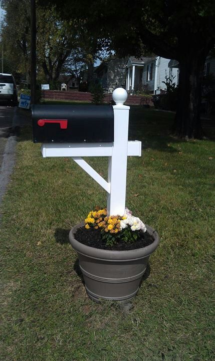 No more snapped or rotted mailbox posts! Flower pot, cement