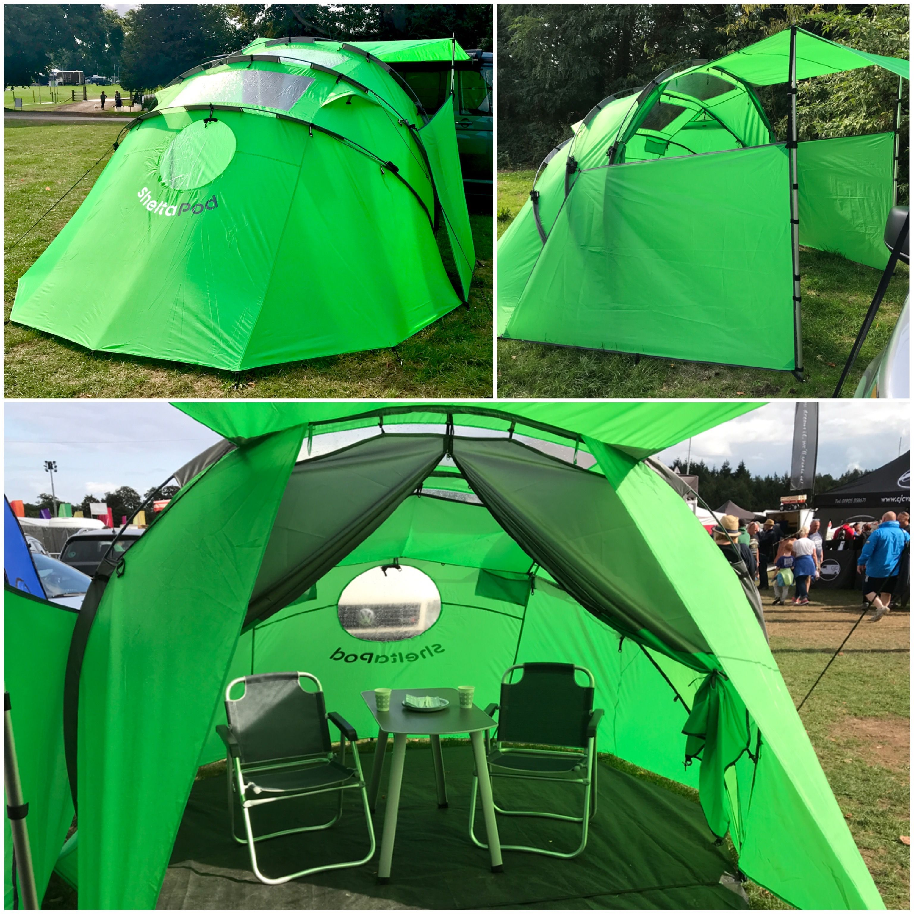 Included In The Sheltapod Bag Is An Inner Tent With Integrated Ground Sheet Front Door Panel Side Privacy Panel Campervan Awnings Camper Awnings Dome Tent