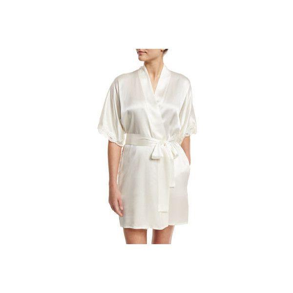 Christine Designs Bijoux Short Silk Robe ($320) ❤ liked on Polyvore ...